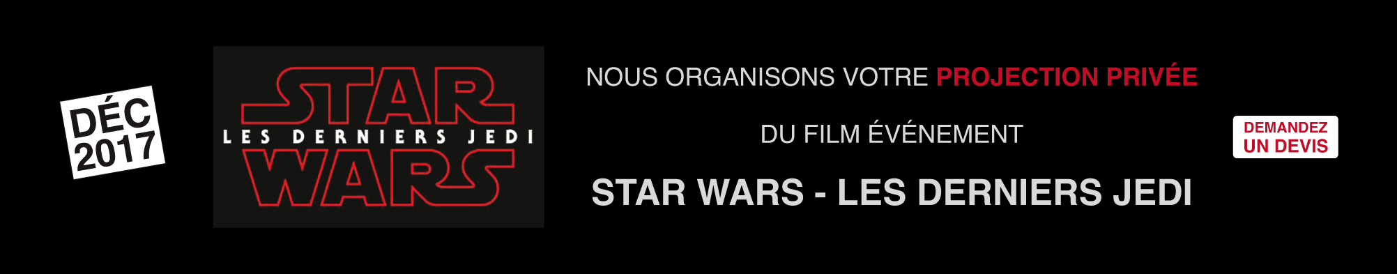 projection privée star wars VIII
